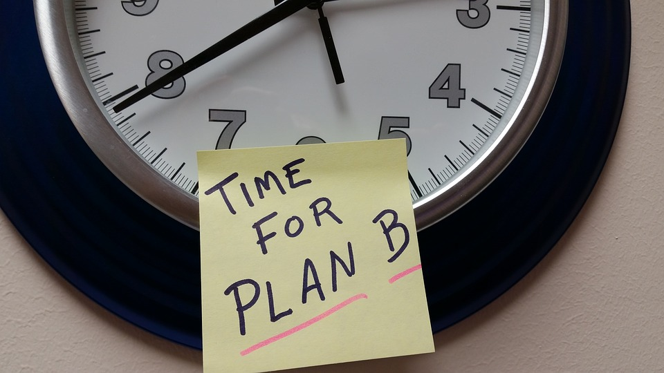 A structured wonder in the dark: how to identify and set your 'Plan B'